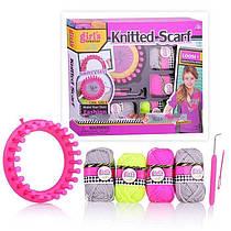 "Детский набор для Вязания ""Knitting Studio"" - ""Knitted Scarf"", станок, крючок, иглы, нитки, MBK285"