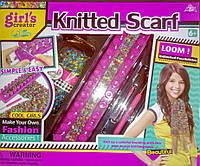 "Детский набор для Вязания ""Knitting Studio"" - ""Knitted Scarf"", станок, крючок, иглы, нитки, MBK 280"