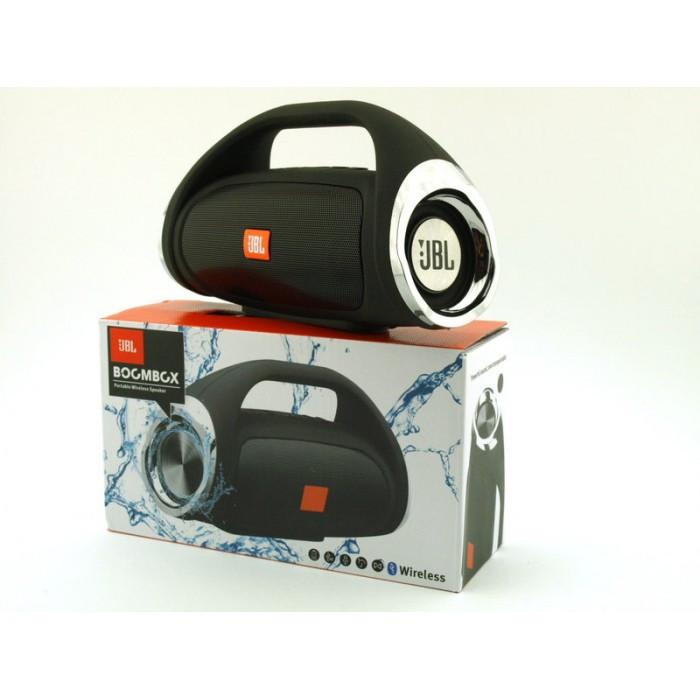 Портативная FM MP3 колонка JBL Boombox mini bluetooth microSD/TF и USB Чёрный