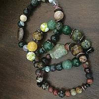 Браслеты из бусин натурального камня