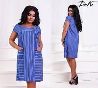 Платье женское летнее тонкий джинс 50-56 размеров Турция, 2 цвета