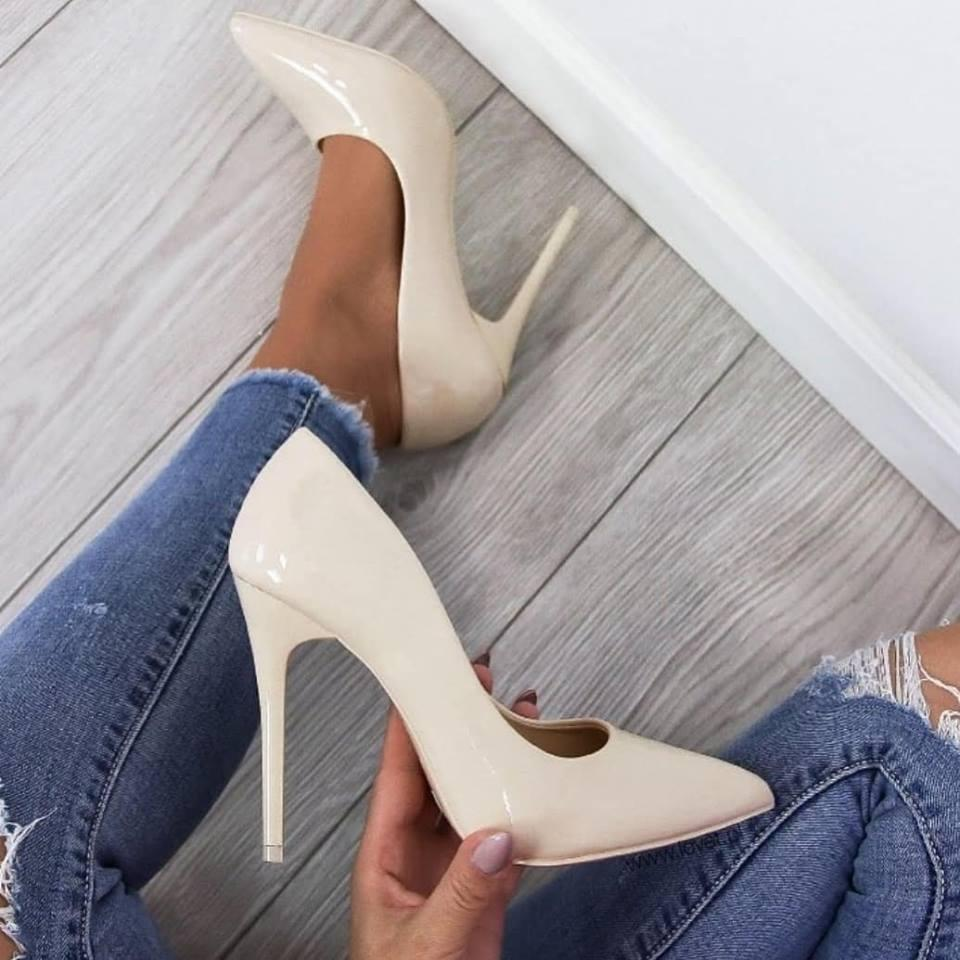 9483817ae Бежевые лодочки туфли каблук - интернет-магазин обуви
