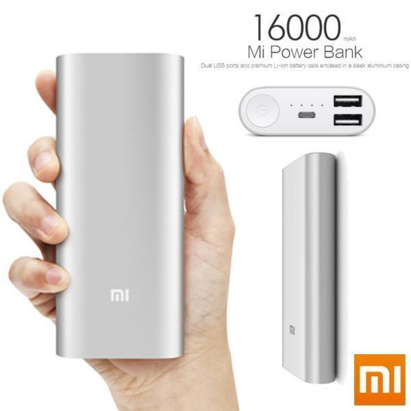 Power bank Xiaomi 16000mAh Silver High Copy