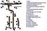 Желоб водостока Zambelli (Замбели) сталь 333мм - 3м, фото 2