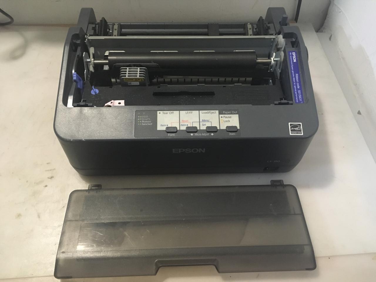Принтер матричный EPSON LX-350 (USB, COM, LPT) без направляющих