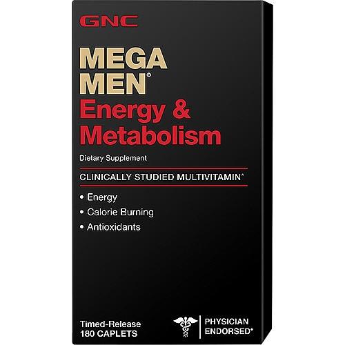 Витамины для мужчин GNC Mega Men Energy & Metabolism 180caps