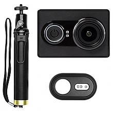 Экшн-камера Xiaomi Yi Sport Black Travel Edition + Монопод Yi + Пульт ДУ (Международная версия). Суперцена!