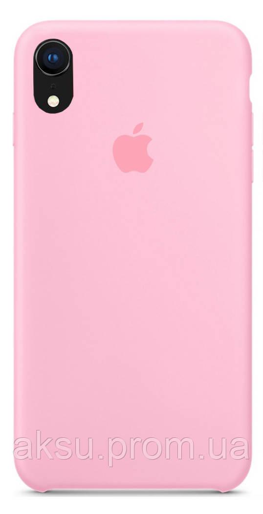 Чехол накладка для iPhone XR Silicone Case Розовий