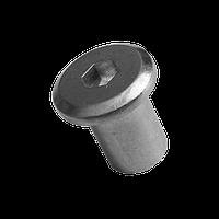 Гайка Эриксона с плоской головкой М6х15 цб INB d9/D15 (JCN) (100 шт/уп)