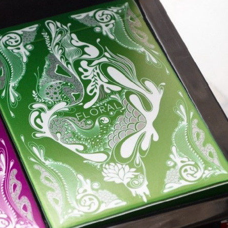 Карты игральные   Floral Deck (Green) by Aloy