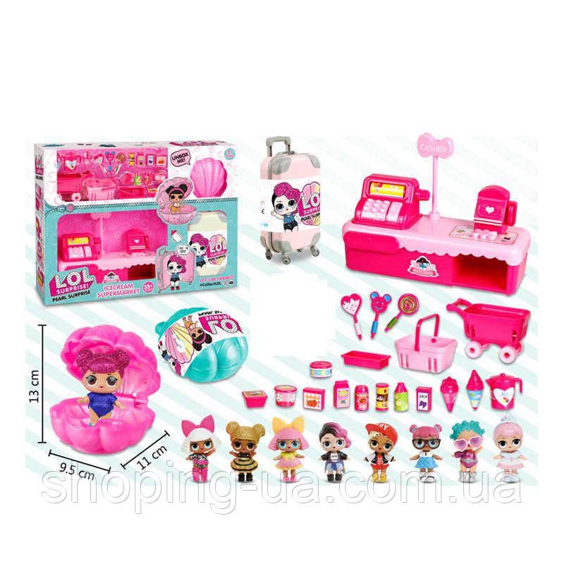 Магазин мороженого с куклой лол BB905