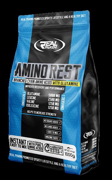 Аминокислоты Real Pharm Amino Rest 1 kg apple rhubarb