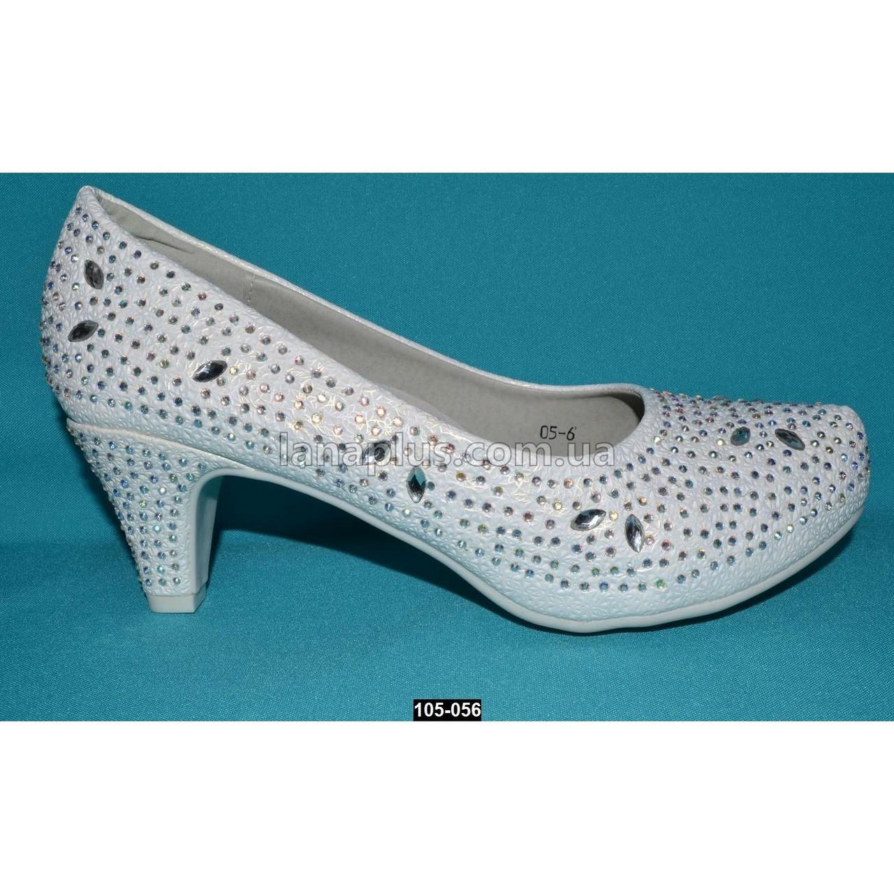 48131a136 Нарядные туфли, 38 размер (24.2 см), праздничные туфельки на каблучке