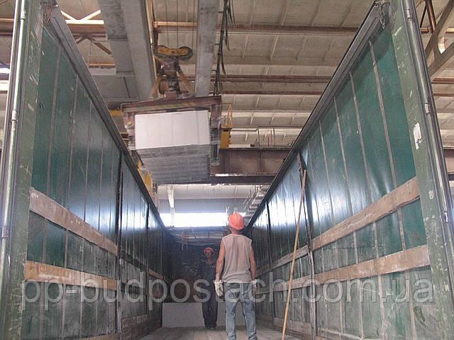 Погрузка на заводе силикатном Купянского газоблока (газобетона)