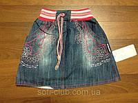 Детская одежда оптом Юбка джинсовая для девочек оптом р.86-92-98-104см