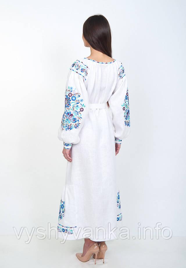 біла лляна сукня вишиванка