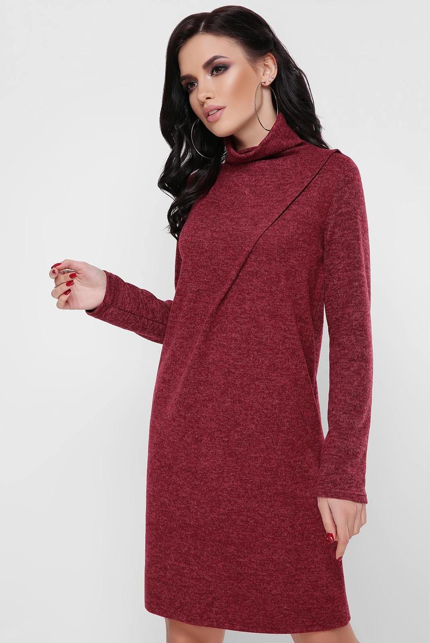 Свободное женское платье из ангоры (2 цвета)