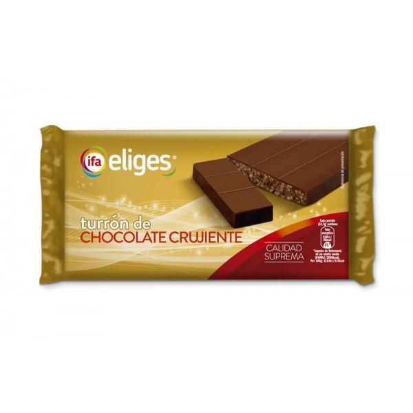 Шоколад Turron de Chocolate crujiente. Испанский туррон в молочном шоколаде. 300гр