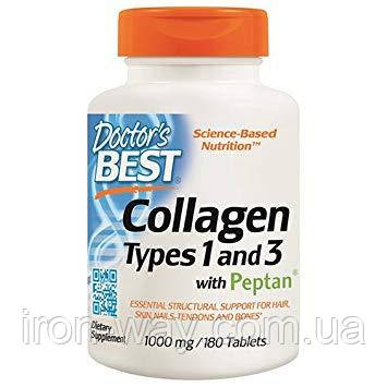 Doctor's s Best Collagen Types 1 and 3 with peptan 1000 mg 180 tab