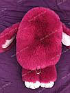 """🐰 Сумка-Рюкзак 🐰 малина меховой Кролик """"Rex Fendi"""" (зайка, зайчик) как игрушка, фото 5"""