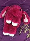 """🐰 Сумка-Рюкзак 🐰 малина меховой Кролик """"Rex Fendi"""" (зайка, зайчик) как игрушка, фото 4"""