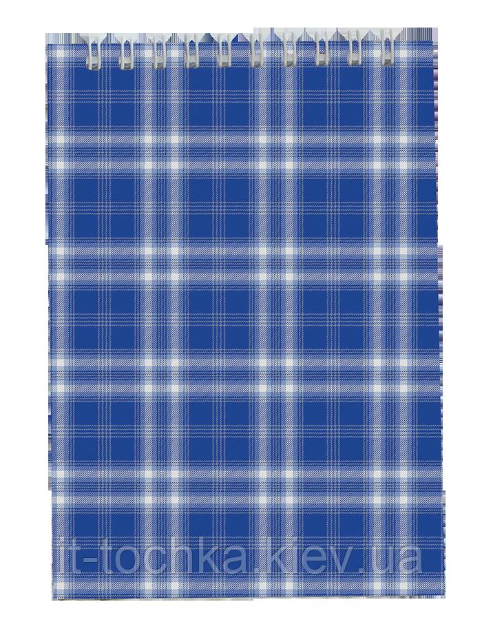Блокнот на пружине сверху А6 buromax bm.2480-02 синий shotlandka 48 листов в клетку