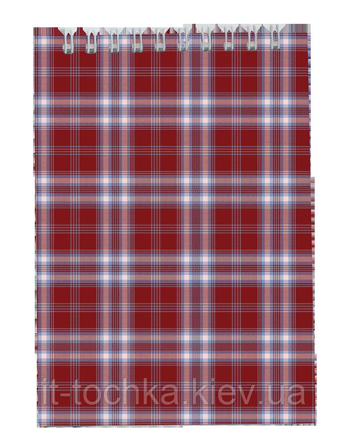 Блокнот на пружине сверху, shotlandka, А6, 48л., клетка, бордовый bm.2480-13