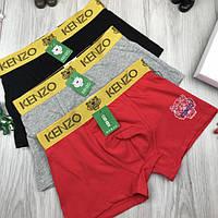 Подарочный набор мужских трусов Kenzo M L XL XXL 2XL хлопковые боксеры мужские трусы хлопок Кензо люкс реплика