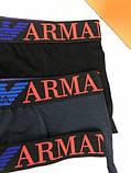 Подарочный комплект мужских трусов Emporio Armani M L XL хлопковые боксеры мужские трусы хлопок Армани реплика, фото 3