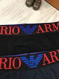 Подарочный комплект мужских трусов Emporio Armani M L XL хлопковые боксеры мужские трусы хлопок Армани реплика, фото 4
