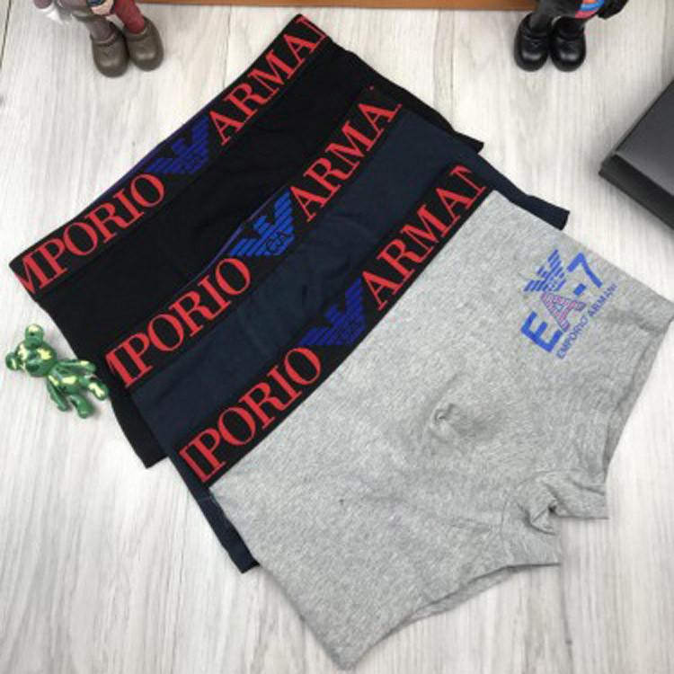 Подарочный комплект мужских трусов Emporio Armani M L XL хлопковые боксеры мужские трусы хлопок Армани реплика