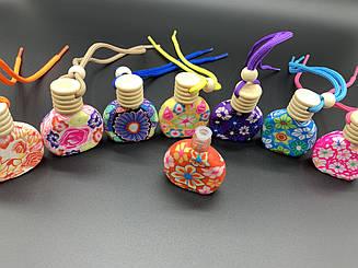Стеклянные бутылочки раскрашенные. МИКС. 50х55мм