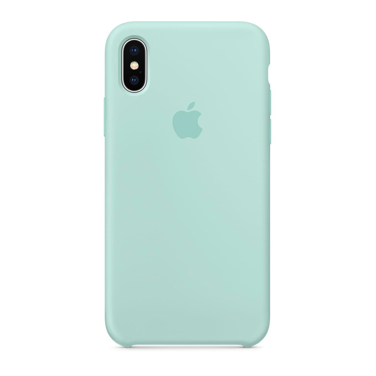 new style 81b3f 4590f Силиконовый чехол Apple Silicone Case Marine Green (1:1) для iPhone XS Max:  продажа, цена в Харькове. ...