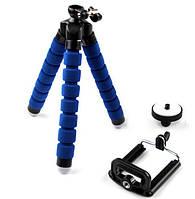 Тренога, гибкий штатив, фотокамера, смартфон с зажимом/держателем, высота 13 см