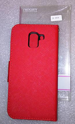 Чехол Книга Goospery Samsung J600 (J6-2018) Red, фото 2