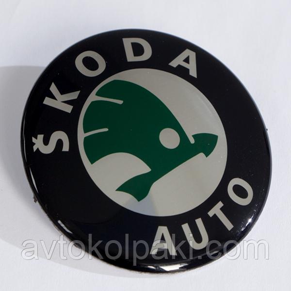 Наклейки на авто диски SKODA  выгнутые