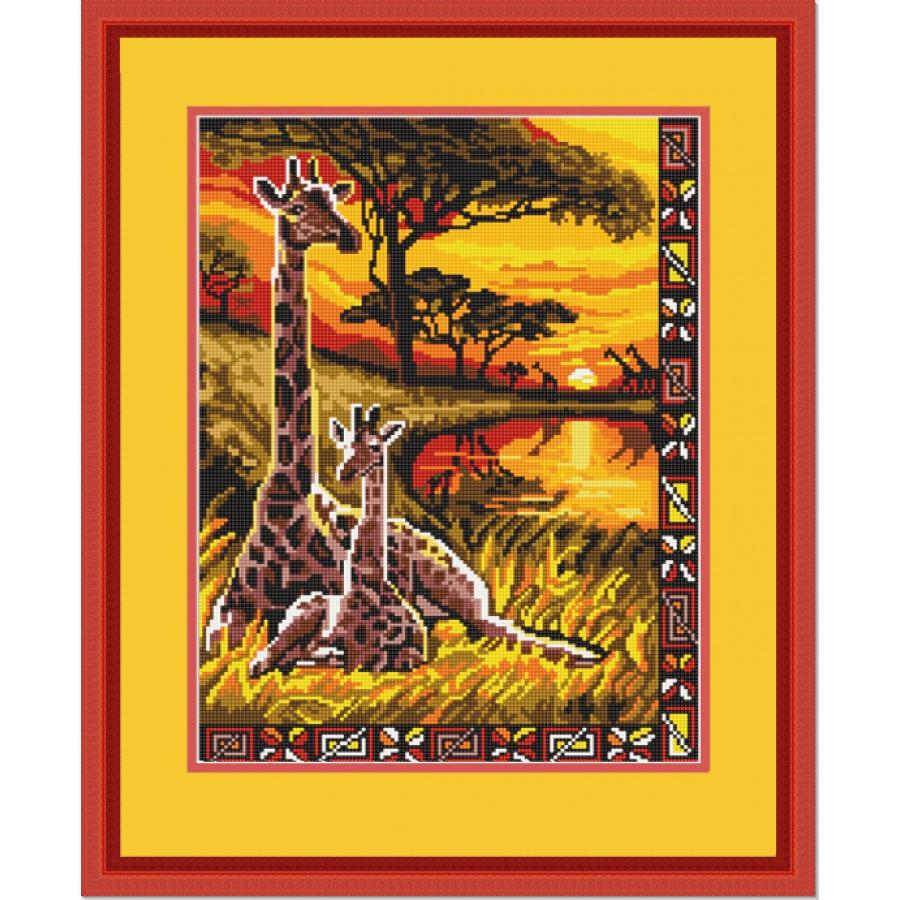 Вышивка бисером жираф