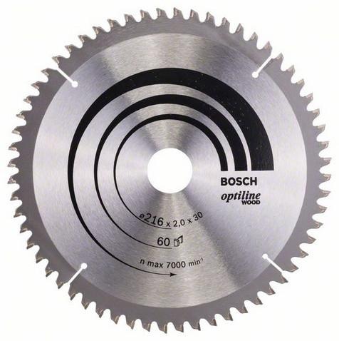 Розпилювальний диск 216х30мм Optiline Wood BOSCH