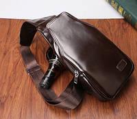 Компактный и удобный мужской рюкзак через плечо