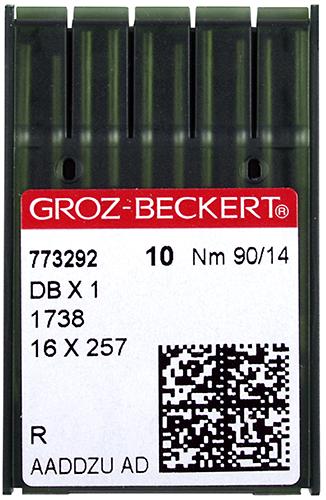 Groz-Beckert DBx1, универсальные иглы для швейных машин челночного стежка для легких тканей, упаковка 10 шт