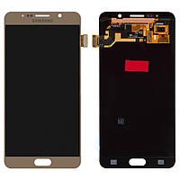 Дисплей для Samsung Galaxy Note 5 N9200, N920C, N920F, модуль (экран и сенсор), золотистый, оригинал