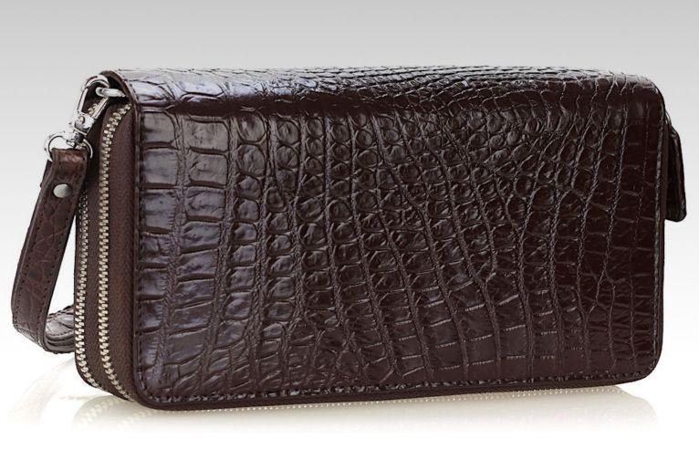 7935ebf48142 Кошелек-клатч CROCODILE LEATHER 18260 из натуральной кожи крокодила  коричневый, цена 6 804 грн., купить в Киеве — Prom.ua (ID#858190991)
