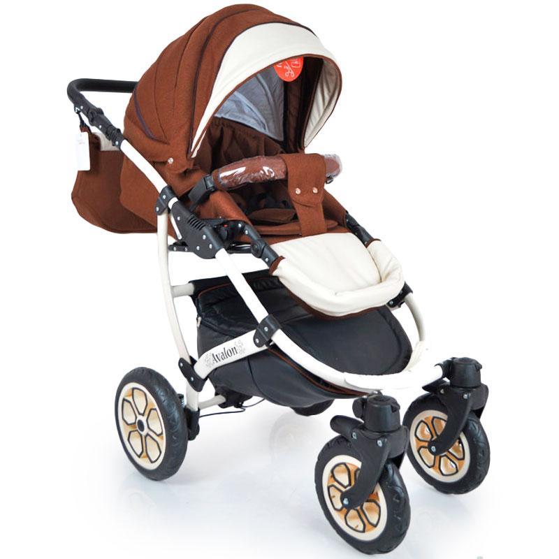 Детская коляска 2 в 1 AVALON BUENO Brown-white