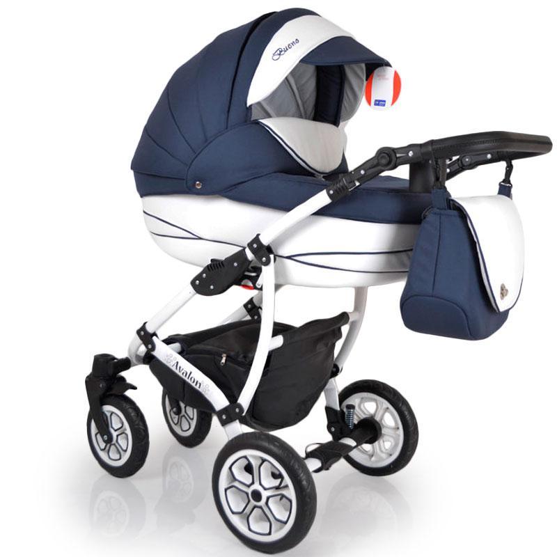 Детская коляска 2 в 1 AVALON BUENO Blue-white