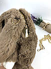 """🐰 Сумка-Рюкзак 🐰 меховой Кролик """"Rex Fendi"""" (зайка, зайчик) как игрушка, фото 3"""