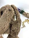 """🐰 Сумка-Рюкзак 🐰 коричневый меховой Кролик """"Rex Fendi"""" (зайка, зайчик) как игрушка, фото 4"""
