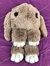 """🐰 Сумка-Рюкзак 🐰 коричневый меховой Кролик """"Rex Fendi"""" (зайка, зайчик) как игрушка, фото 5"""