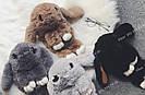 """🐰 Сумка-Рюкзак 🐰 коричневый меховой Кролик """"Rex Fendi"""" (зайка, зайчик) как игрушка, фото 6"""