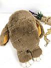 """🐰 Сумка-Рюкзак 🐰 коричневый меховой Кролик """"Rex Fendi"""" (зайка, зайчик) как игрушка, фото 8"""