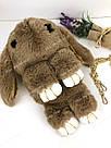 """🐰 Сумка-Рюкзак 🐰 коричневый меховой Кролик """"Rex Fendi"""" (зайка, зайчик) как игрушка, фото 9"""